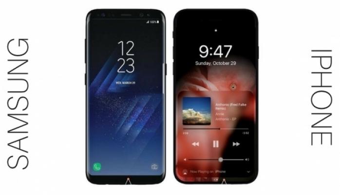 Galaxy Note 8 ilə iPhone 8 smartfonlarının müqayisəsi
