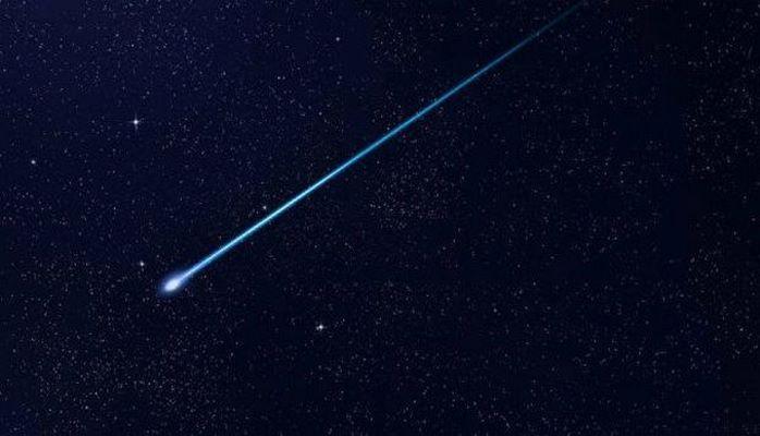 Момент падения метеорита