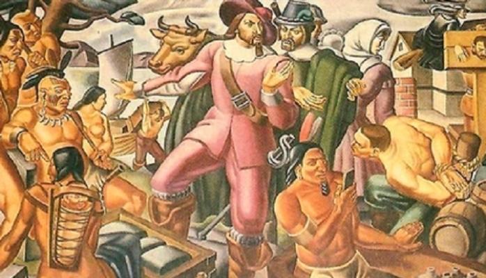 1937-ci il freskasının üzərində əlində iPhone olan hindu aşkar edildi
