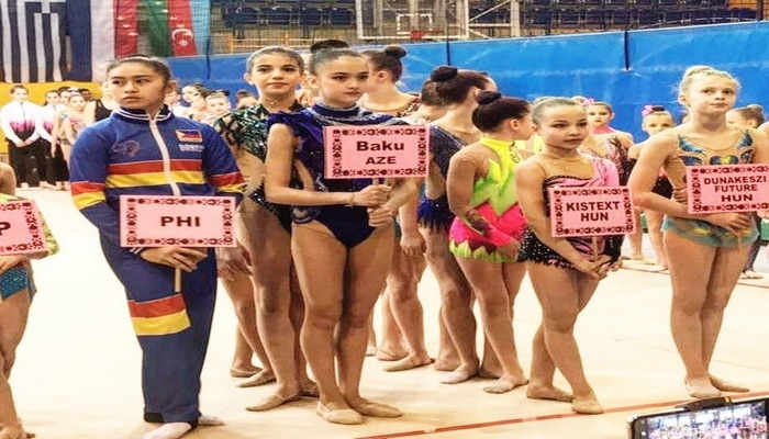 Азербайджанская гимнастка заняла второе место на турнире в Венгрии