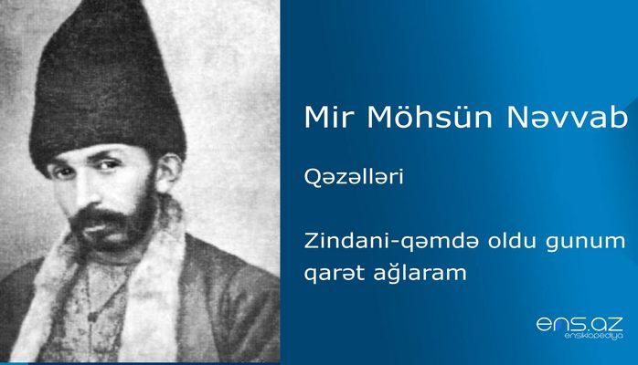 Mir Möhsün Nəvvab - Zindani-qəmdə oldu gunum qarət ağlaram