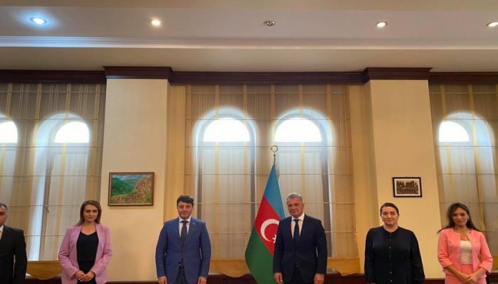 Председатель Азербайджанской общины Нагорного Карабаха встретился с послом Хорватии