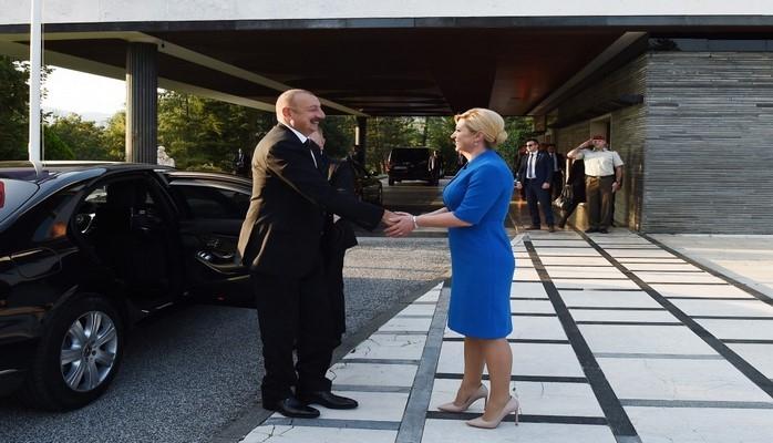 В Загребе дан официальный прием в честь Президента Азербайджана Ильхама Алиева