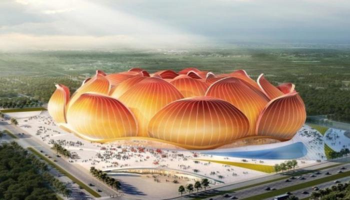 В Китае началось строительство стадиона в форме цветка лотоса - ВИДЕО