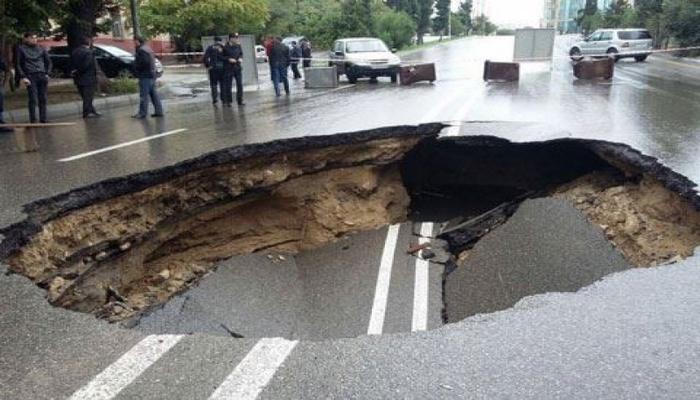 Просела недавно отремонтированная дорога