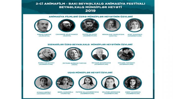 Назван состав международного жюри Фестиваля анимационных фильмов в Баку