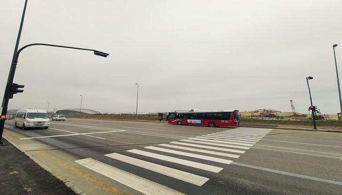В Баку установили сенсорный светофор