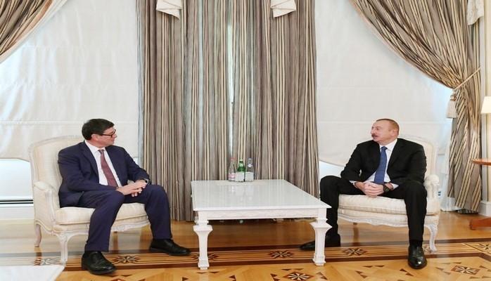 Azərbaycan Prezidenti İsveçrə Konfederasiyasının nümayəndə heyətini qəbul edib
