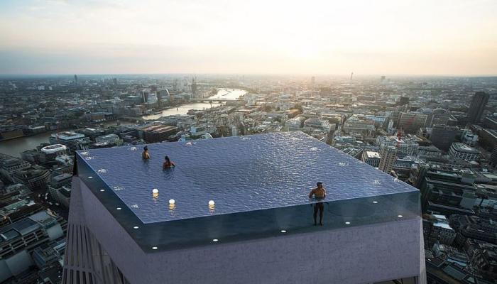 Londonda binanın damında unikal hovuz tikiləcək