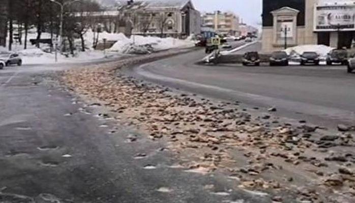 Россиянин вывалил тонны рыбных отходов в центре города