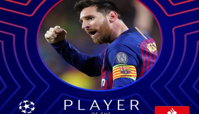 Messi Çempionlar Liqasında həftənin futbolçusu seçilib
