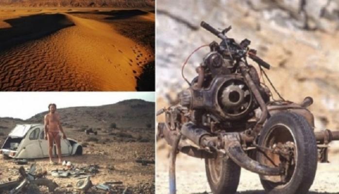 Səyyahın səhrada avtomobili xarab oldu, ondan motosiklet düzəldərək sağ qaldı