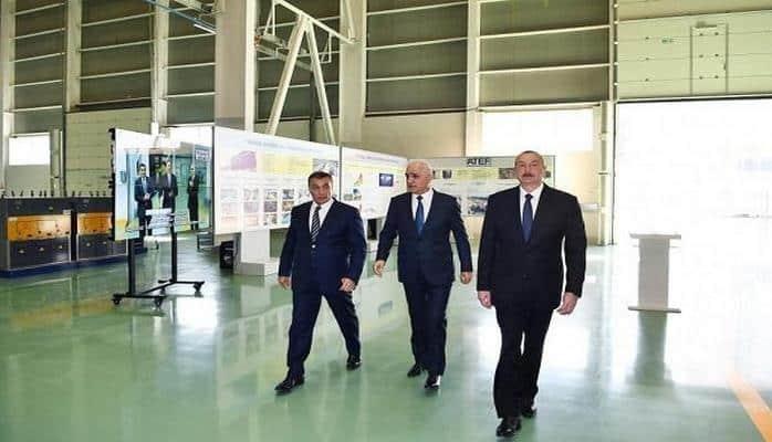 Prezidentlər Sumqayıtda: yeni zavod açıldı