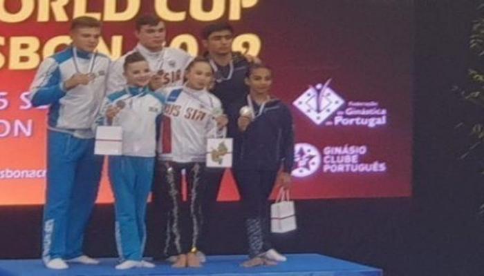 Azərbaycan gimnastları Dünya Kubokunda gümüş medal qazanıblar