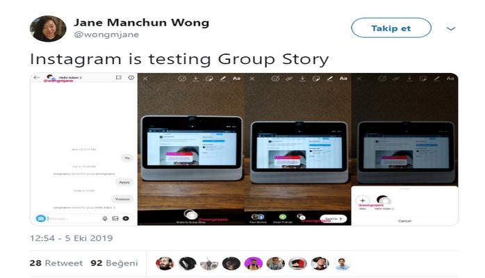 Instagram, Grup Hikayelerini Test Etmeye Başladı