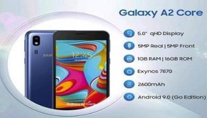 """""""Samsung Galaxy A2 Core"""" smartfonu təqdim edilib"""
