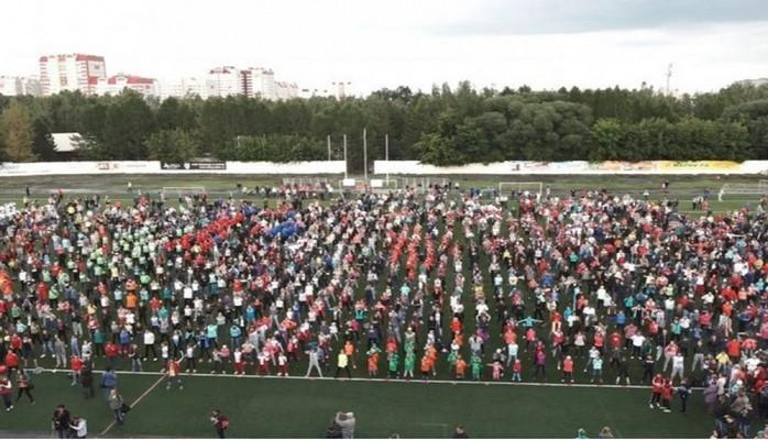 В Барнауле поставили мировой ре корд по самой массовой городской тренировке