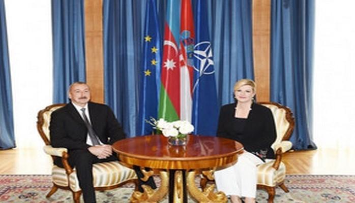 Состоялась встреча тет-а-тет президентов Азербайджана и Хорватии