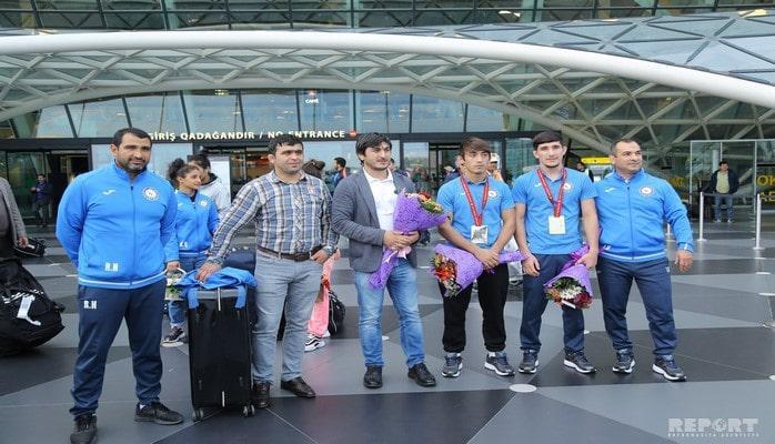 Принимавшая участие в чемпионате мира по дзюдо сборная Азербайджана вернулась в Баку