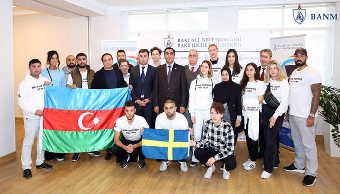 Представители молодежи Швеции – гости Бакинской Высшей школы нефти