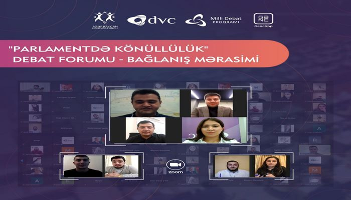 100-ə yaxın gənc arasında könüllülük mövzusunda  Parlament Debatları keçirilib