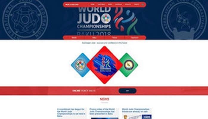 Официальный сайт предстоящего в Баку чемпионата мира по дзюдо сдан в пользование