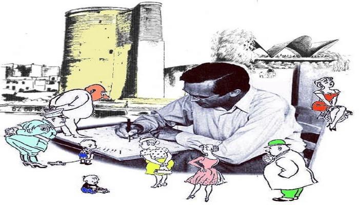 Məşhur danimarkalı karikaturaçının 1964-cü ildə Bakı səfəri