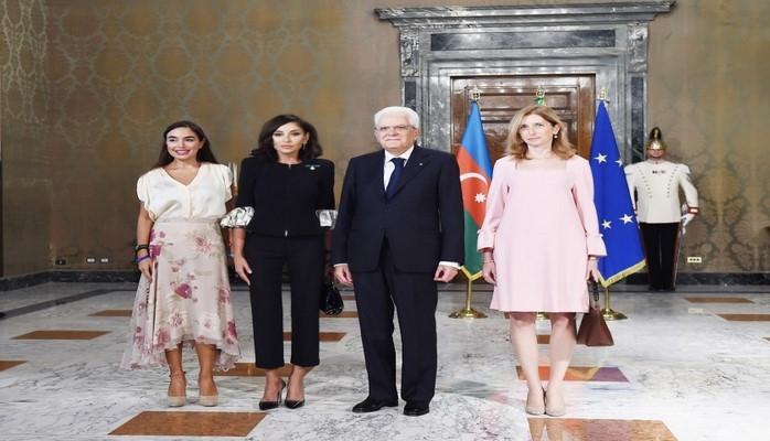 От имени Президента Италии дан официальный обед в честь Первого вице-президента Азербайджана Мехрибан Алиевой