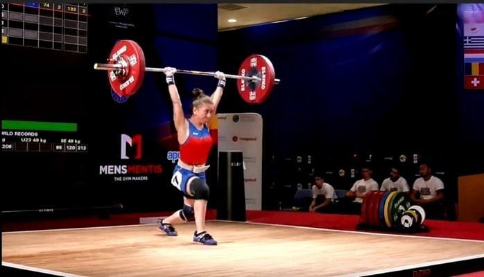 Gənc idmançımız ağır atletika üzrə Avropa birinciliyində dördüncü yeri tutub