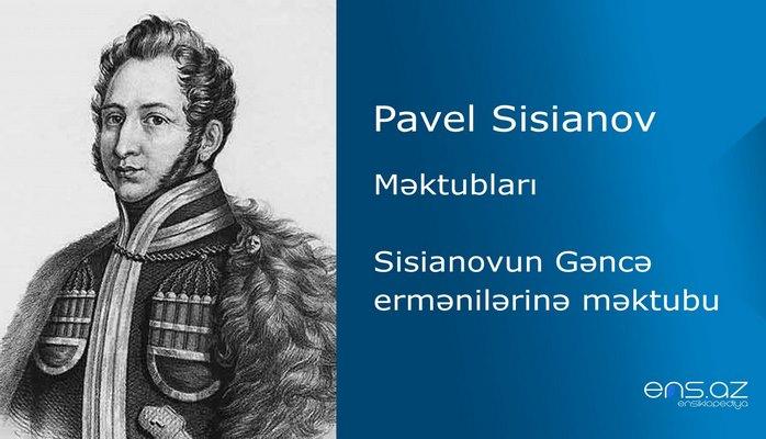 Pavel Sisianov - Sisianovun Gəncə ermənilərinə məktubu