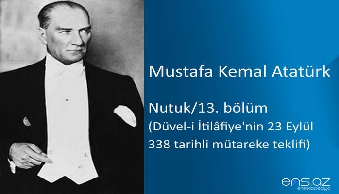 Mustafa Kemal Atatürk - Nutuk/13. bölüm/Düvel-i İtilafiye'nin 23 Eylül 338 tarihli mütareke teklifi