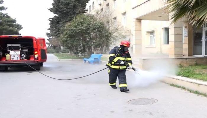 МЧС Азербайджана продолжает работы по дезинфекции