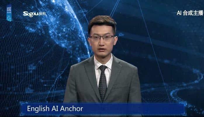 Çin'de Dünyanın İlk İngilizce Konuşan Yapay Zeka Haber Sunucusu Tanıtıldı