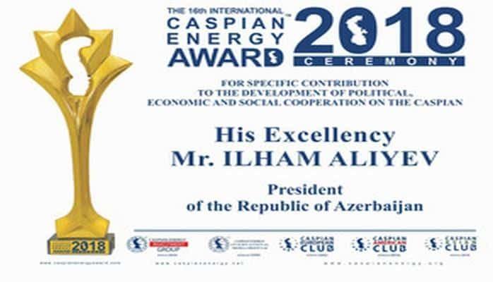 """Xəzəryanı ölkələrin prezidentlərinə """"Caspian Energy Award"""" təqdim olunacaq"""