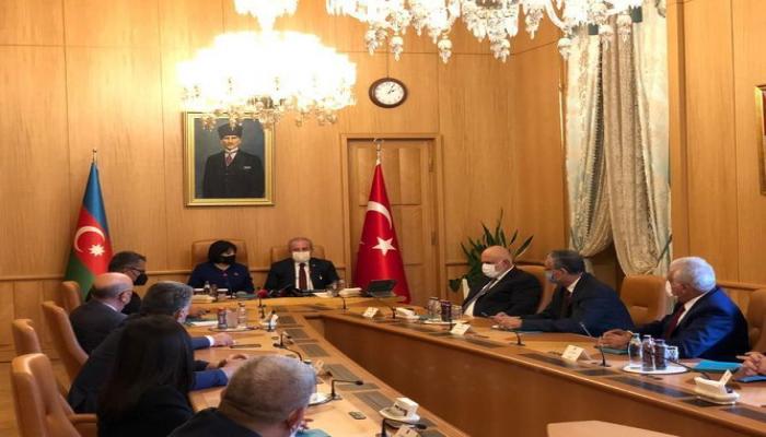Сахиба Гафарова встретилась с председателем Великого Национального собрания Турции