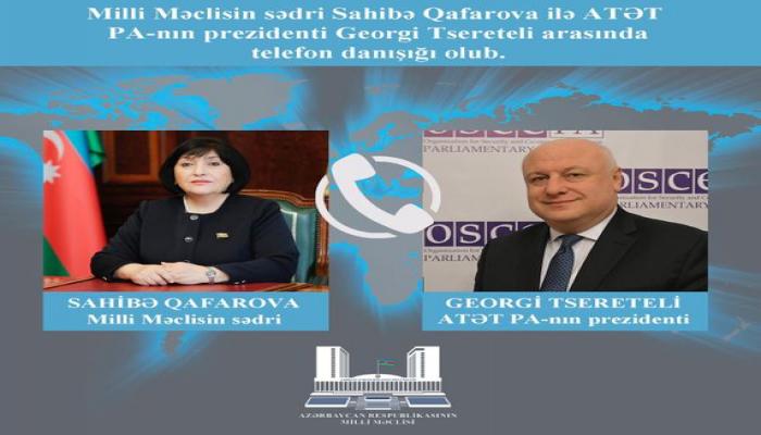 Sahibə Qafarovanın ATƏT PA Prezidenti ilə telefon danışığı olub