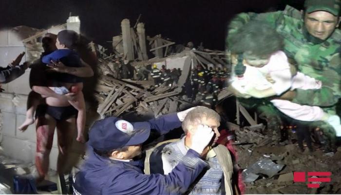 Ermənilərin Gəncəyə raket atəşi nəticəsində 5 dinc sakin ölüb, 28 yaralı var