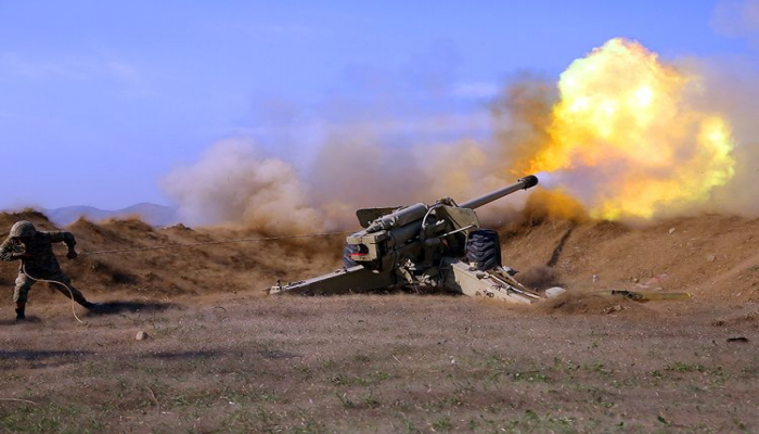 MN: Artilleriyaçılarımız düşmənin atəş nöqtələrinə dəqiq zərbələr endirməyə davam edir