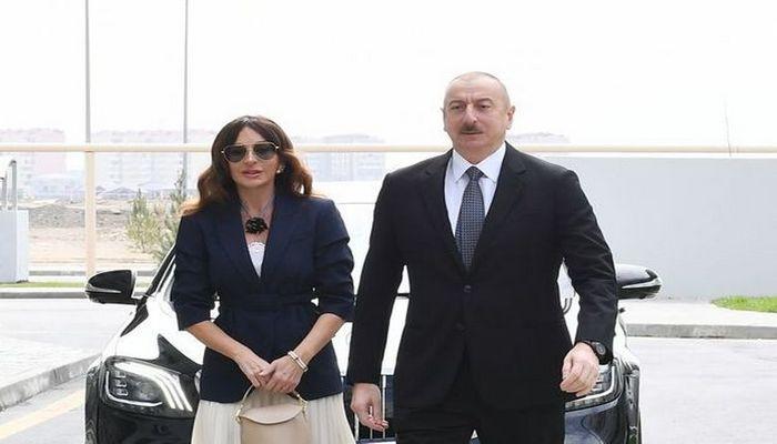 İlham Əliyev və Mehriban Əliyeva İçərişəhərdə