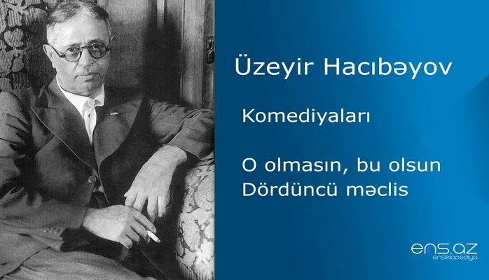 Üzeyir Hacıbəyov - O olmasın, bu olsun/Dördüncü məclis