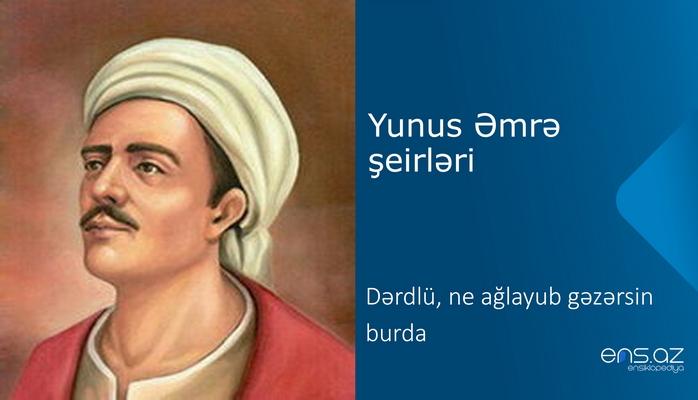 Yunus Əmrə - Dərdlü, ne ağlayub gəzərsin burda