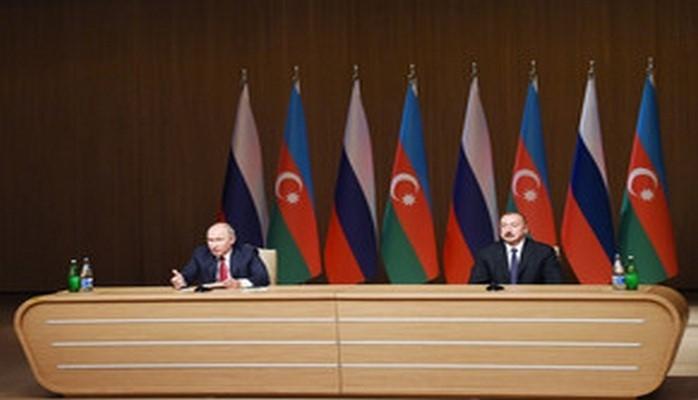 Ильхам Алиев и Владимир Путин приняли участие на официальной церемонии открытия IX Азербайджано-Российского межрегионального форума