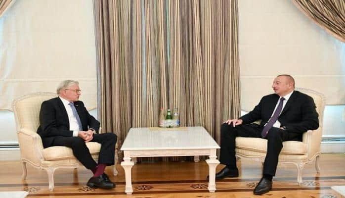 İlham Əliyev AŞPA-nın sabiq prezidenti ilə görüşdü