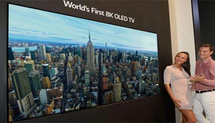 Dünyada ilk 8K təsvir ölçülü OLED televizor təqdim edilib