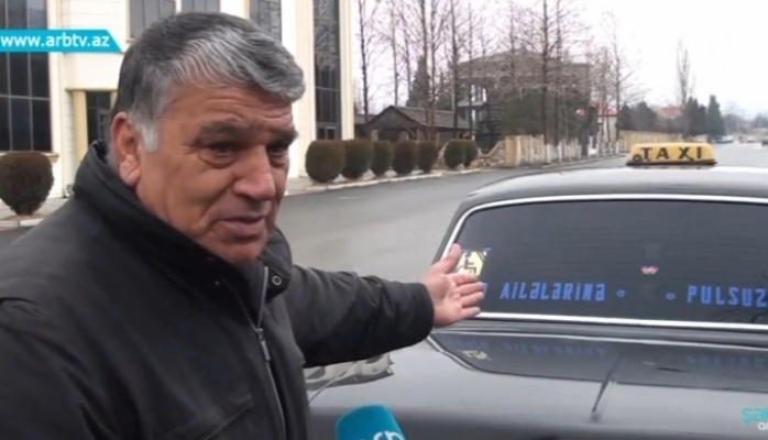 Şəhid ailələri üçün pulsuz taksi