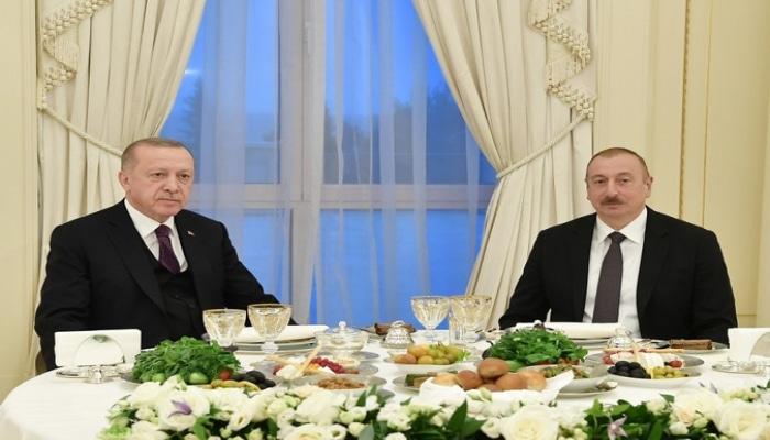 От имени Ильхама Алиева дан прием в честь президента Турции