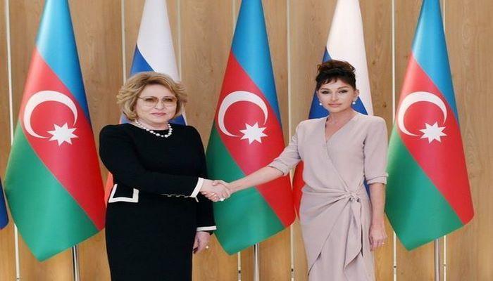 Мехрибан Алиева встретилась с Валентиной Матвиенко