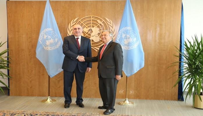 Эльмар Мамедъяров обсудил с генсеком ООН нагорно-карабахский конфликт