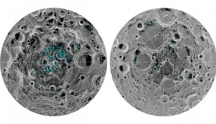 Ayda donmuş su aşkarlandı