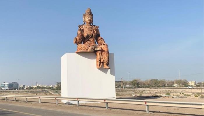 İslam ölkəsində Budda heykəli qoyuldu